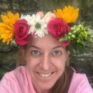 Real Flower Crown, Summer Sunflower Crown